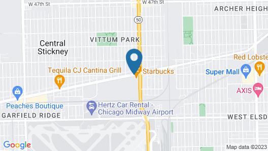 Skylark Motel Map