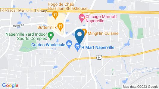 Motel 6 Naperville, IL Map