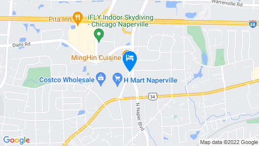 Best Western Naperville Inn Map