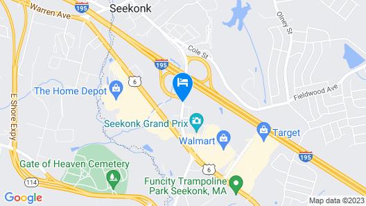 Clarion Inn Seekonk - Providence Map