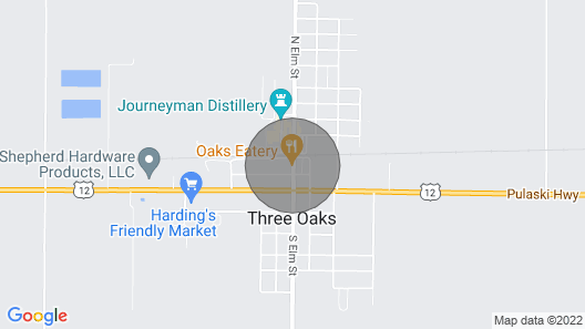 Stay in Downtown Three Oaks Overlooking the Main Street! Map