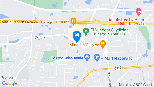 Courtyard by Marriott Chicago Naperville Map