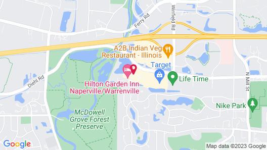 Hilton Garden Inn Naperville/Warrenville Map