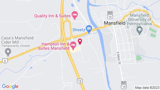 Hampton Inn & Suites Mansfield Map