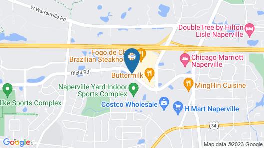 Hampton Inn Chicago/Naperville Map