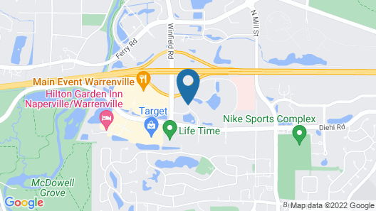 SpringHill Suites by Marriott Chicago Naperville/Warrenville Map