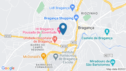 HI Braganca -Pousada de Juventude Map