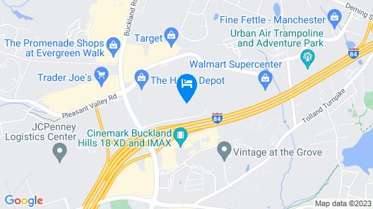 Fairfield Inn & Suites Hartford Manchester Map