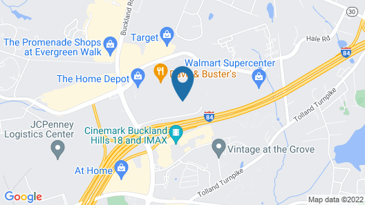 Homewood Suites by Hilton Hartford Manchester Map