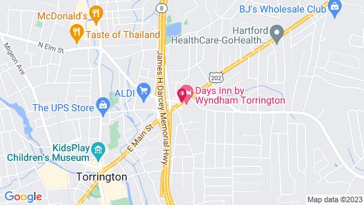 Days Inn by Wyndham Torrington Map
