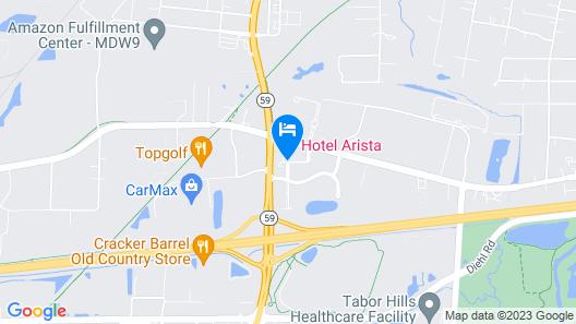 Hotel Arista Map