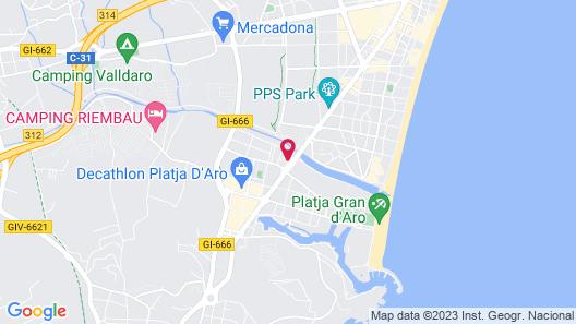 Hotel Platja D'aro Map