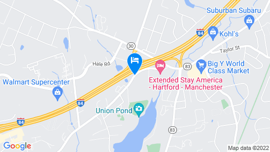 Americas Best Value Inn Manchester, CT Map
