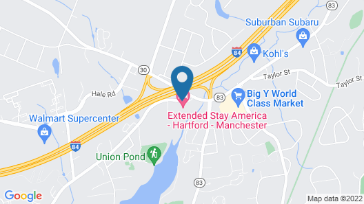 Extended Stay America - Hartford - Manchester Map