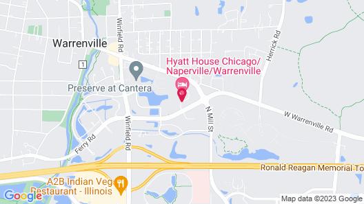 HYATT house Chicago/Naperville/Warrenville Map