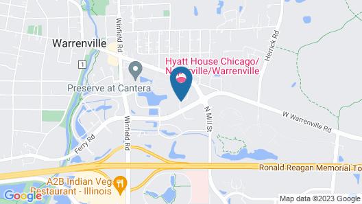 Hyatt Place Chicago/Naperville/Warrenville Map