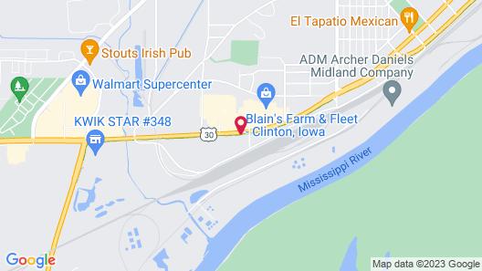 Super 8 by Wyndham Clinton Map