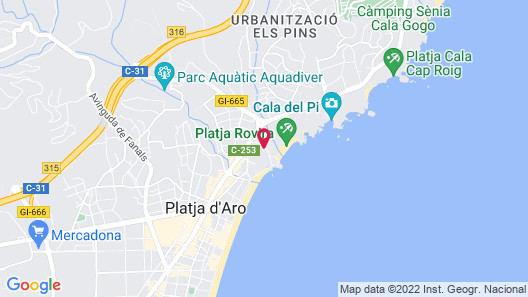 Hotel Costa Brava Map