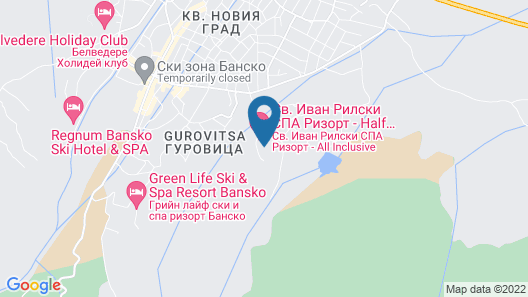 SPA Resort St. Ivan Rilski Map