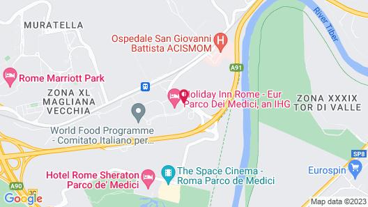 Holiday Inn Rome- Eur Parco Dei Medici Map