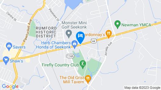 Ramada by Wyndham Seekonk Providence Area Map