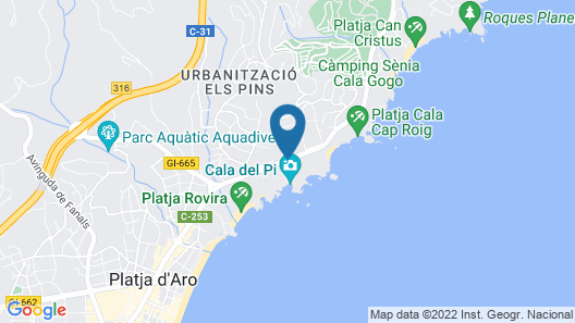 Hotel Cala del Pi - Adults Only Map