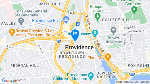 Courtyard by Marriott Providence Downtown Map
