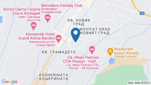 Platinum Hotel & Casino, Bansko Map