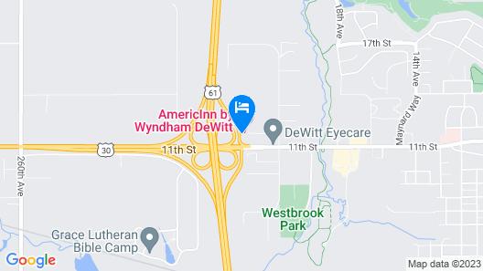 AmericInn by Wyndham DeWitt Map