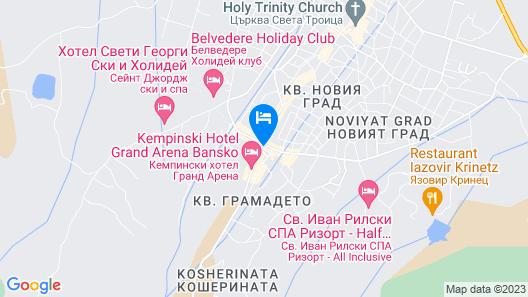 Pirin Palace White Apartments Map