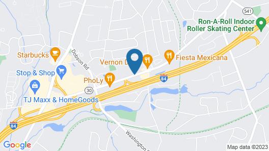 Red Roof Inn Hartford - Vernon Map