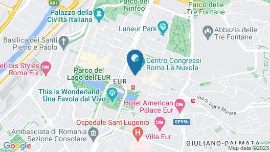 Hilton Rome Eur La Lama Map
