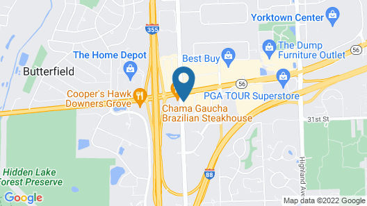 Holiday Inn Express Chicago-Downers Grove, an IHG Hotel Map