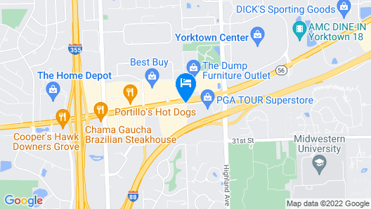 Red Roof Inn Chicago - Downers Grove Map