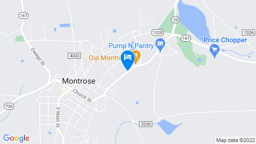 The Montrose Hotel Map