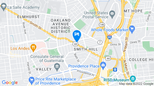 Providence Hostel and Guesthouse Map