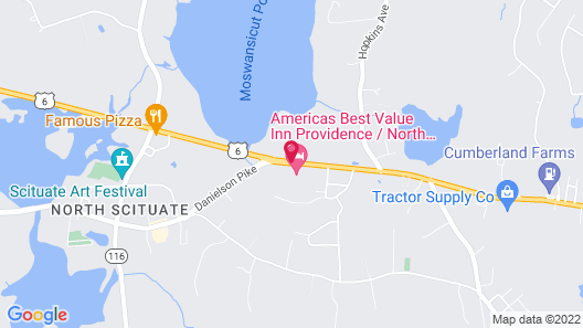 Americas Best Value Inn Providence North Scituate Map