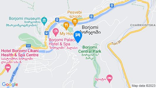 Borjomi Underwood Hotel Map