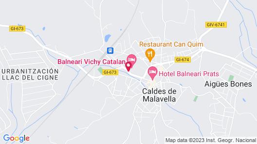 Balneari Vichy Catalan Map