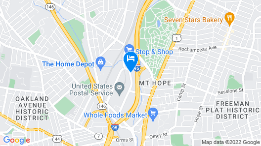 WoodSpring Suites Providence Map