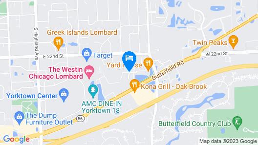 Hyatt Place Chicago/Lombard/Oak Brook Map
