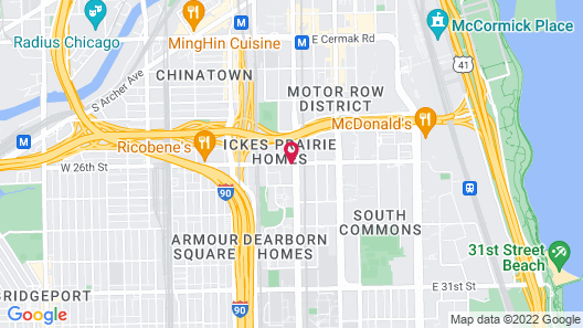 Chicago South Loop Hotel Map
