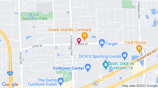 SureStay Plus Hotel by Best Western Chicago Lombard Map