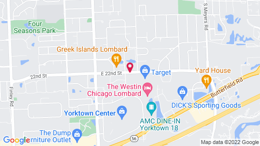 TownePlace Suites by Marriott Chicago Lombard Map