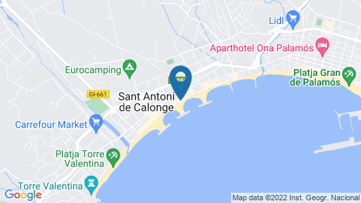 Hotel Rosamar Map