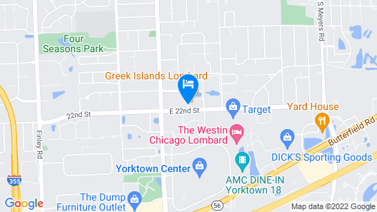 Extended Stay America - Chicago - Lombard - Yorktown Center Map