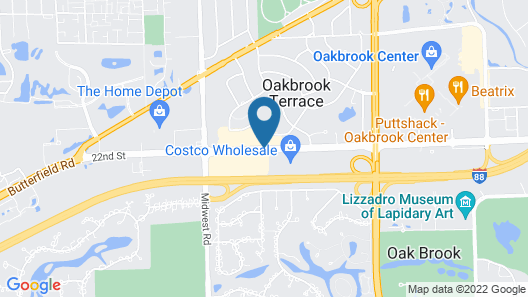 Holiday Inn Chicago-Oakbrook Map