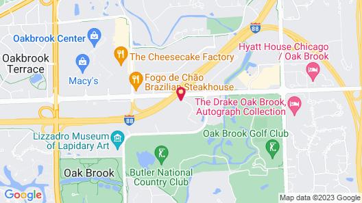 Residence Inn by Marriott Chicago Oak Brook Map