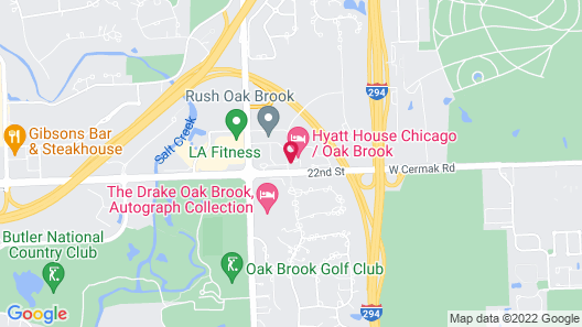Hyatt House Chicago Oak Brook Map