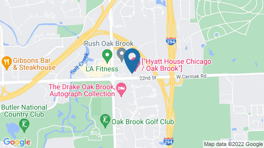 Hyatt House Chicago Oak Brook Map